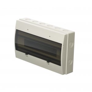 Empty Distribution Enclosures - 12 module insulated ABS enclosure