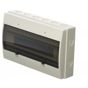 Empty Distribution Enclosures - 18 module insulated ABS enclosure