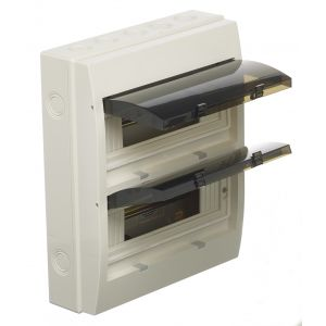 Empty Distribution Enclosures - 24 module insulated ABS enclosure (double decked)