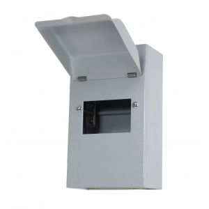 Metalclad IP40 Modular Enclosures - 4 module metal enclosure with lid (CU tails entry)