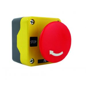 Plastic Push Button Stations - One Position Emergency Stops - Twist release 60mm red 1N/C