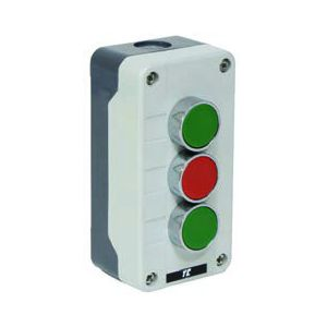 Plastic Push Button Stations - 3 position control station green / red / green