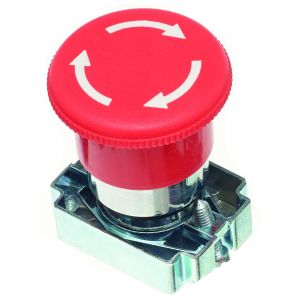 22mm Emergency Stop Switches - Em Stop 40mm dia twist to release