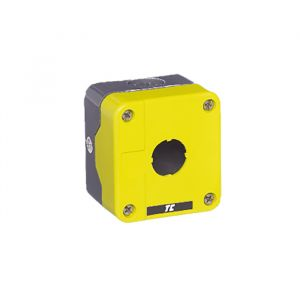 Plastic Control Station Enclosures - 1 position empty control station yellow