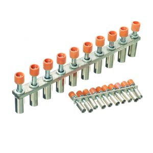 Jumper Bars - 10 Way Insulated Shorting Links - 10 way for 4mm_ terminal
