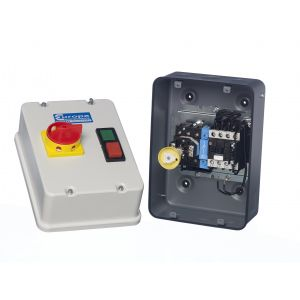 Direct on Line Motor Starters - Metal with Isolator - DOL + ISO IP54 5.5kW 415V coil steel enclosure