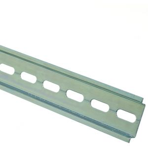 Top hat DIN rail slotted 2m length