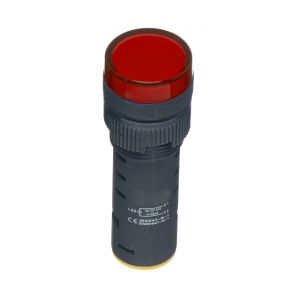 22mm LED Pilot Lamps - 230V AC red
