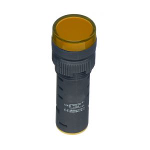 22mm LED Pilot Lamps - LED 230V AC yellow