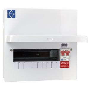 Economy Consumer Unit - 100A Mains Switch 10 Way Metal Board