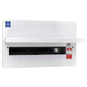 Economy Consumer Unit - 100A Mains Switch 19 Way Metal Board
