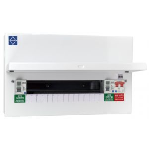 Economy Consumer Unit - 15 Way Semi-Populated Dual RCCB Board