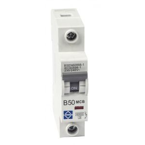 Economy 6kA Single Pole MCB - B Curve - 50A