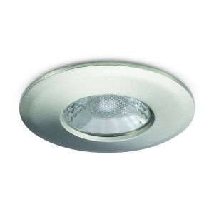 7W Fixed LED Downlights Fire Rated - 650 lumens - Brushed nickel