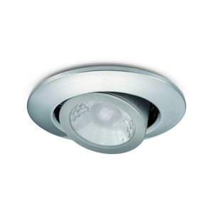 7W Tilt LED Downlights Fire Rated - Brushed nickel