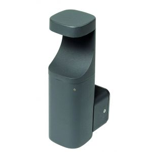 Wall & Bollard Lights - 7W IP54 LED wall light, 3000K, dark grey