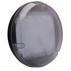 9W LED Round Bulkhead - black/clear