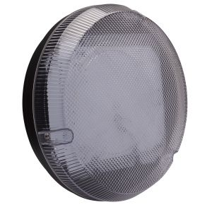 9W LED Round Bulkhead - black/clear
