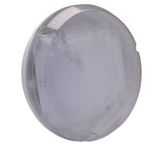 9W LED Round Bulkhead - white/clear