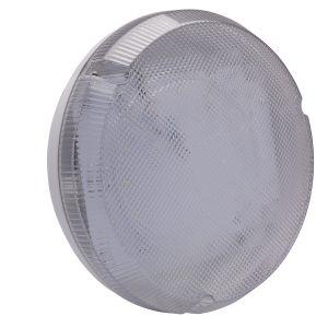 9W LED Round Bulkhead - white/clear