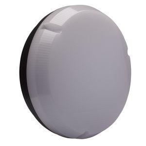 9W LED Round Bulkhead - black/opal