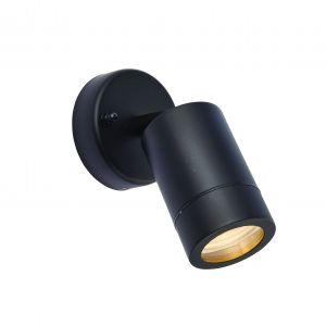 Black Outdoor Adjustable Spotlight GU10