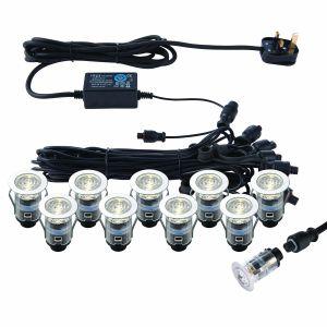 10x25mm Decking Light Kit IP67 CCT 3000/4000K