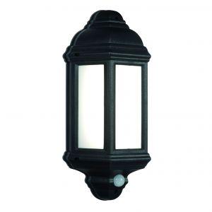 Black PIR Half Lantern 7W LED