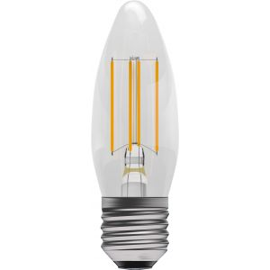 4W LED Filament Candle - Non-Dimmable - ES/E27 2700K, 15,000 hrs, 470 lumens - Clear Candle