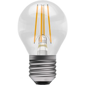 4W LED Filament Round - Non-Dimmable - ES/E27 2700K, 15,000 hrs, 470 lumens - Clear round