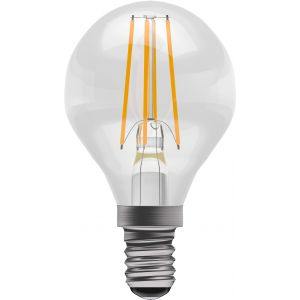 4W LED Filament Round - Non-Dimmable - SES/E14 2700K, 15,000 hrs, 470 lumens - Clear round
