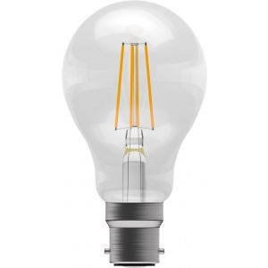 LED Filament GLS - Non-Dimmable - 4W BC/B22 2700K, 15,000 hrs, 470 lumens - clear GLS