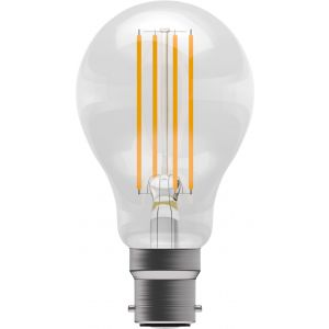LED Filament GLS - Non-Dimmable - 6W BC/B22 2700K, 15,000 hrs, 470 lumens - clear GLS