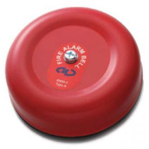 """Sounders & Visual Indicators - 17-27V 6"""" red fire alarm bell"""