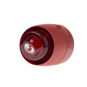 Sounders & Visual Indicators - Wall mounted visual alarm device - red body