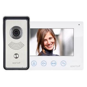 Colour video door entry system kit - white monitor