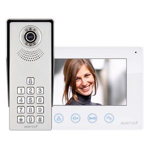 Colour video door entry system kit c/w keypad - white monitor