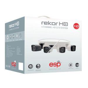 4 Channel HD Bullet CCTV Kits & Cameras - 500GB c/w 2 cameras - black