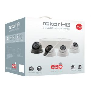 4 Channel HD Dome CCTV Kits & Cameras - 500GB with 4 cameras - black