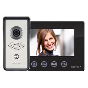 Colour video door entry system kit - black monitor
