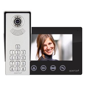 Colour video door entry system kit c/w keypad - black monitor