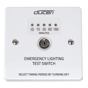 Emergency Lighting Test Key Switch with LED Indicator