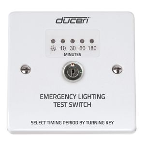Emergency Lighting Test Key Switch with LED Indicator