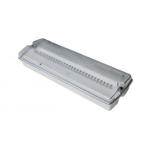 IP65 Low Profile Emergency Bulkhead - LED with legend pack