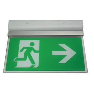 Suspended Exit Signs - Surface mount (wall / ceiling) exit sign c/w ISO legend pack