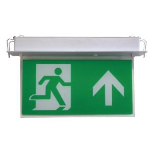 Suspended Exit Signs - Flush exit sign - c/w ISO legend pack