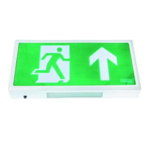 Wall Mounted Exit Signs - Wall mounted exit box with arrow up