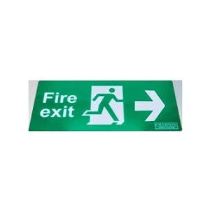 Wall Mounted Exit Signs - Arrow right legend - ISO type