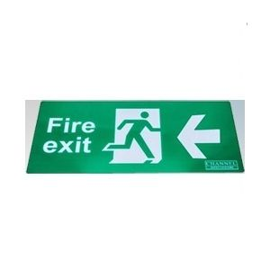 Wall Mounted Exit Signs - Arrow left Legend - ISO type