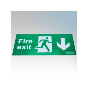 Wall Mounted Exit Signs - Arrow down Legend - ISO type